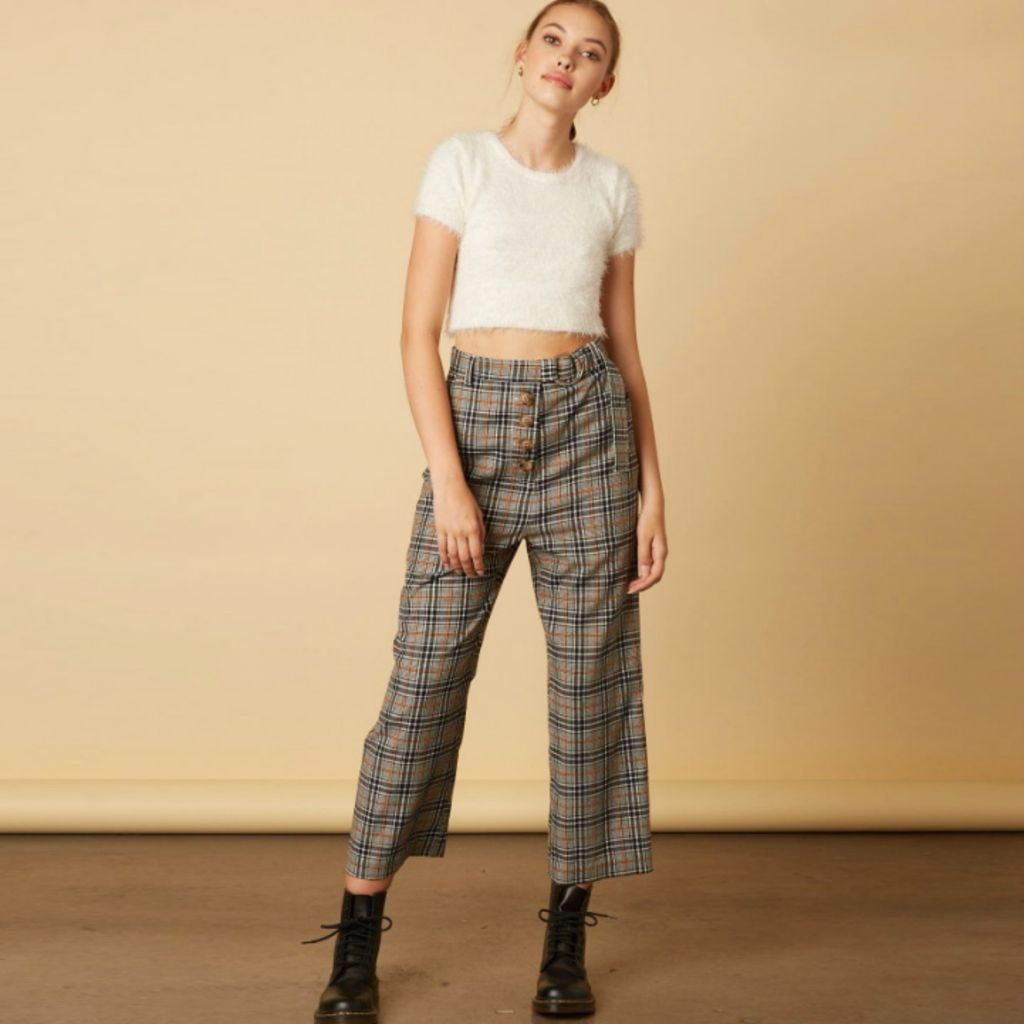 Pants 46 Changing Seasons Cropped Plaid Pants