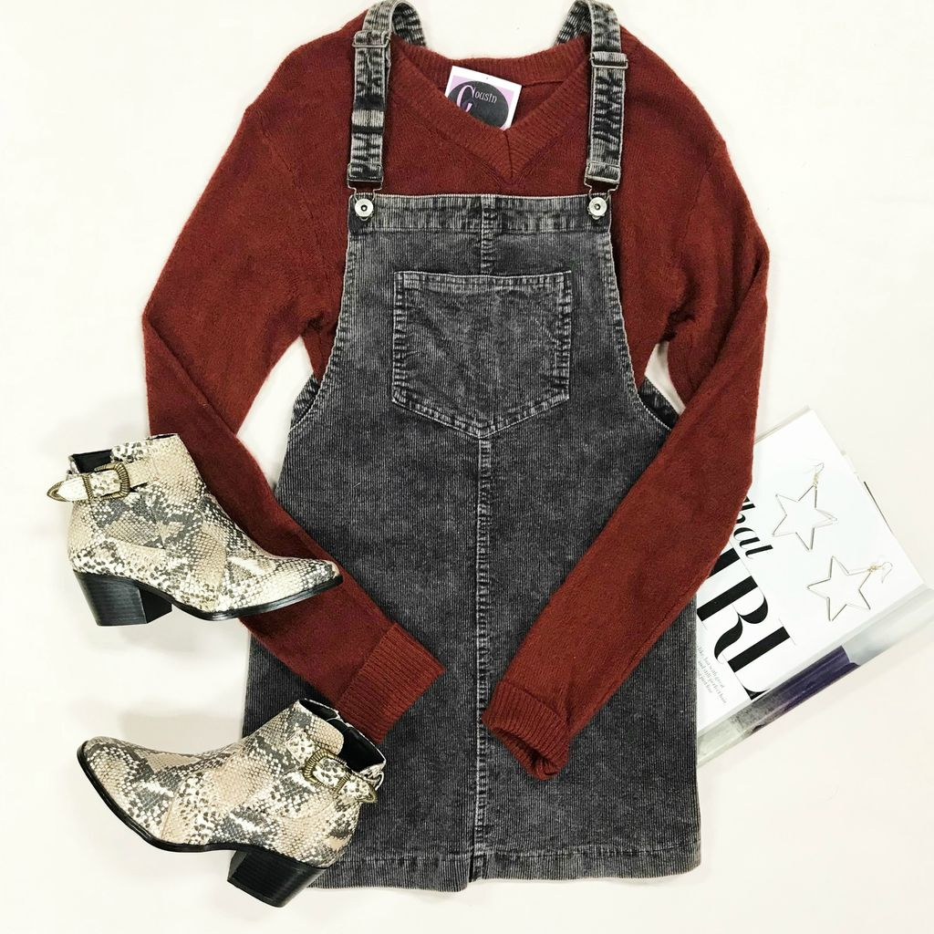 Dresses 22 Mineral Washed Overall Dress