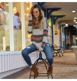 Tops 66 Fall Chill Stripe Sweater