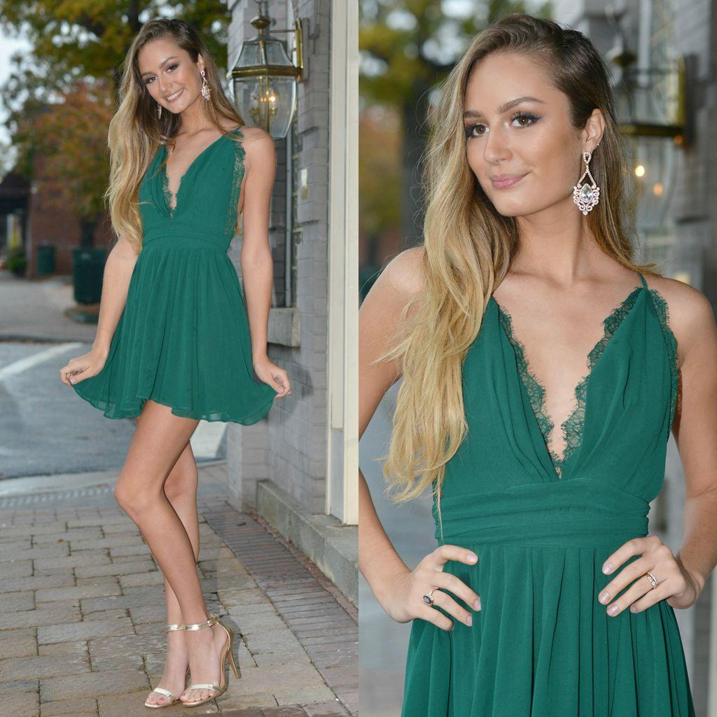 Dresses 22 Chiffon Eyelash Lace Green Dress