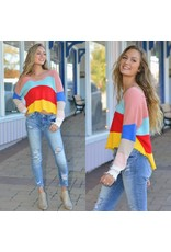 Tops 66 Colorful Life Stripe Sweater