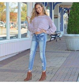 Tops 66 Lavender Love Chenille Sweater