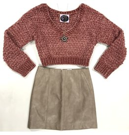 Skirts 62 Love Of Leather Taupe Skirt