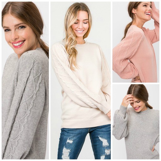 Tops 66 Cozy Cable Knit Winter Sweater
