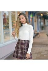 Skirts 62 Holiday Plaid Burgundy Skirt