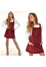 Dresses 22 Fall Cool Down Burgundy Corduroy Dress