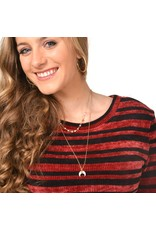 Jewelry 34 Double Layer Necklace With Horn Pendant