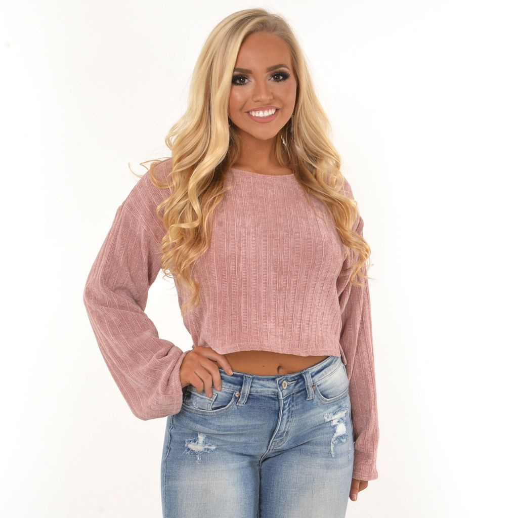 Tops 66 Think Pink Chenille Sweater