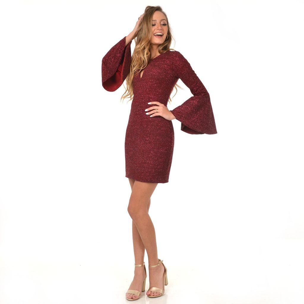 Dresses 22 Sparkle Burgundy Short Formal Dress