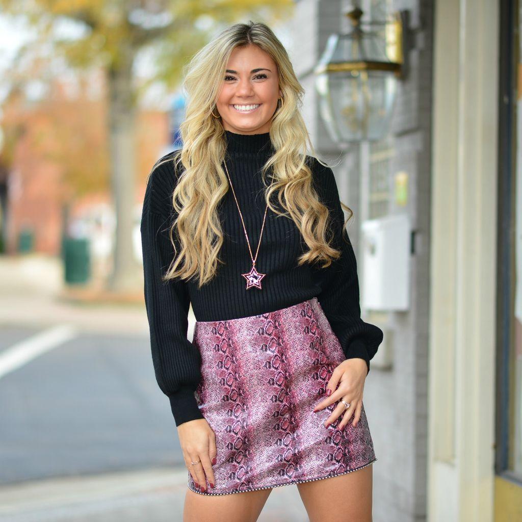 Skirts 62 Plum Snake Print Stud Bottom Skirt