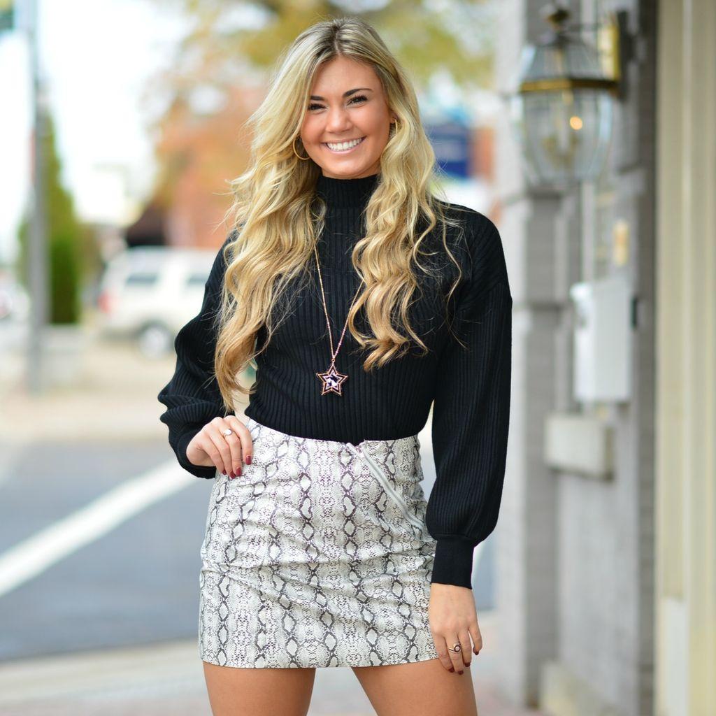 Skirts 62 Zip Front Snake Print Skirt
