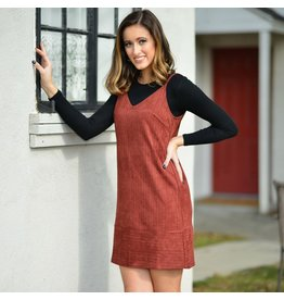 Dresses 22 Striped Suede Burgundy Dress