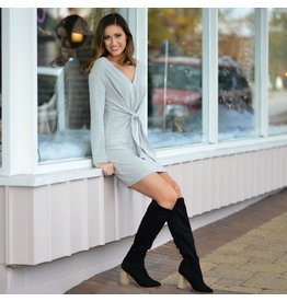 Dresses 22 Winter Wonderland Grey Sweater Dress