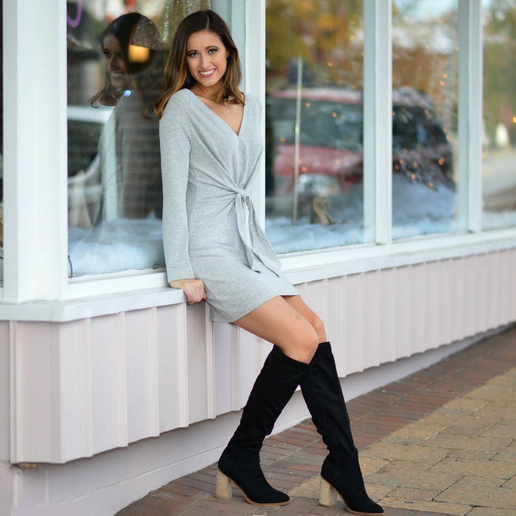 Dresses 22 Winter Wonderland Grey Sweater Dress