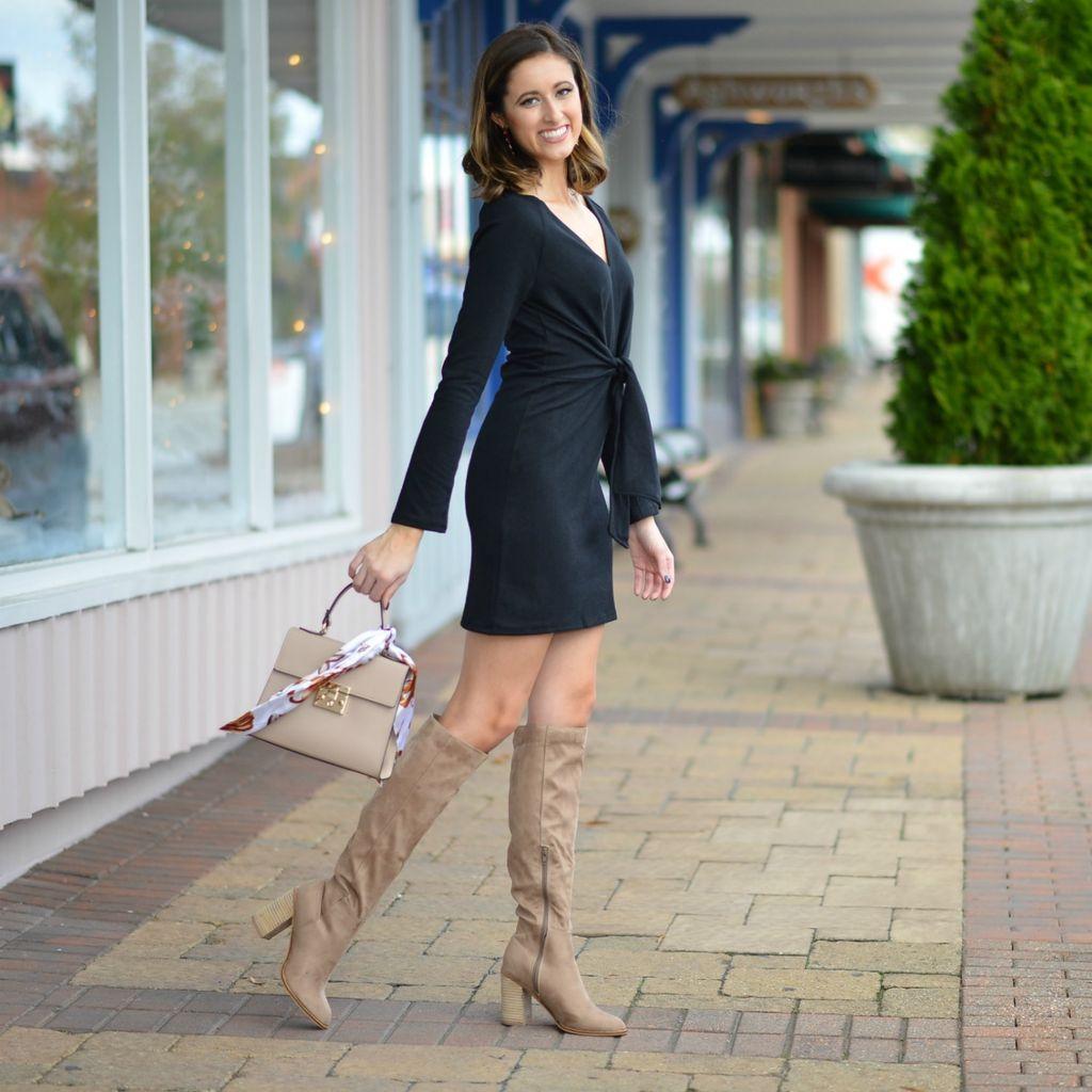Dresses 22 Winter Wonderland Black Sweater Dress