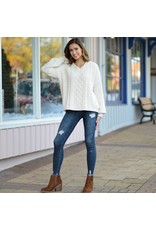 Tops 66 Chenille Cable Knit Sweater