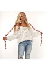 Tops 66 Winter Wonderland White Chenille Sweater