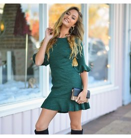 Dresses 22 Home For The Holidays Spruce Ruffle Dress