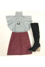 Skirts 62 Love Of Leather Wine Skirt