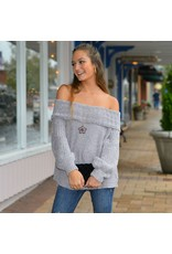 Tops 66 Off Shoulder Chenille Sweater
