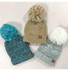 Accessories 10 Marled Knit Pom Pom CC Winter Hat