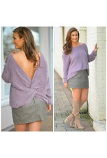 Tops 66 Mulberry Punch Open Back Soft Sweater