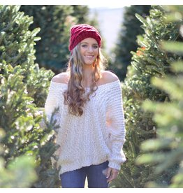 Tops 66 Make It Cozy Ivory Winter Sweater