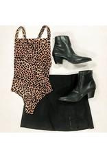 Tops 66 My Love Of Leopard Open Back Bodysuit