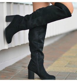 Shoes 54 Walk Into Winter Suede Black Tall Boot