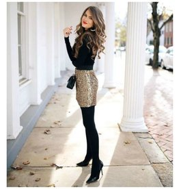 Skirts 62 Light Up The Night Sequin Leopard Print Skirt