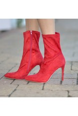Shoes 54 Right To The Point Red Bootie