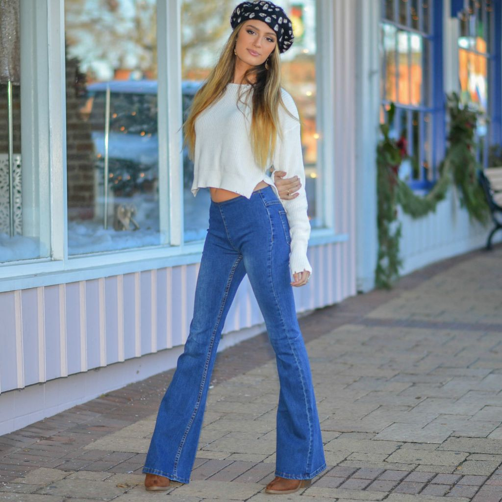 Pants 46 Pull Me On Denim Flares