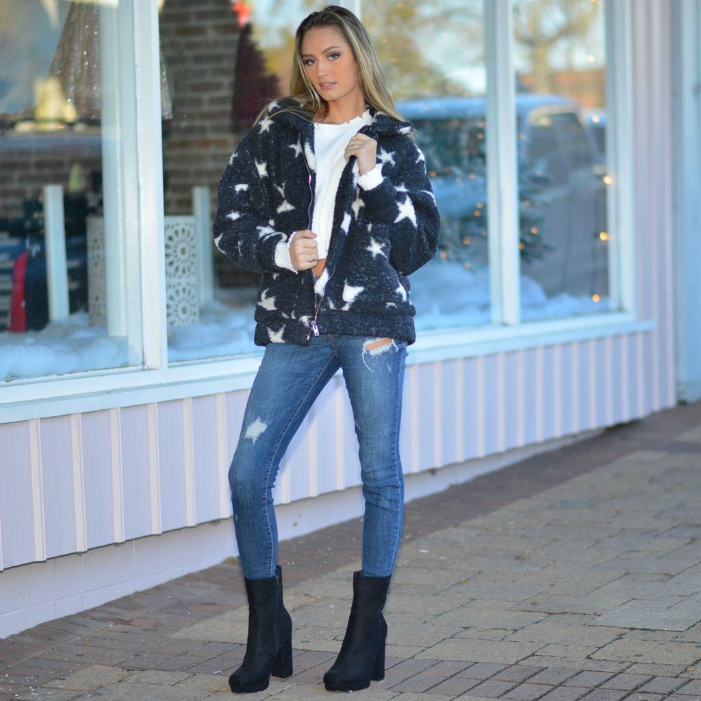 Tops 66 You're A Star Fleece Winter Jacket