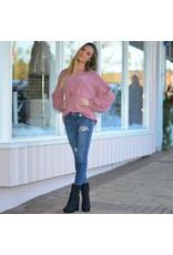 Tops 66 Chenille Balloon Sleeve Cozy Sweater