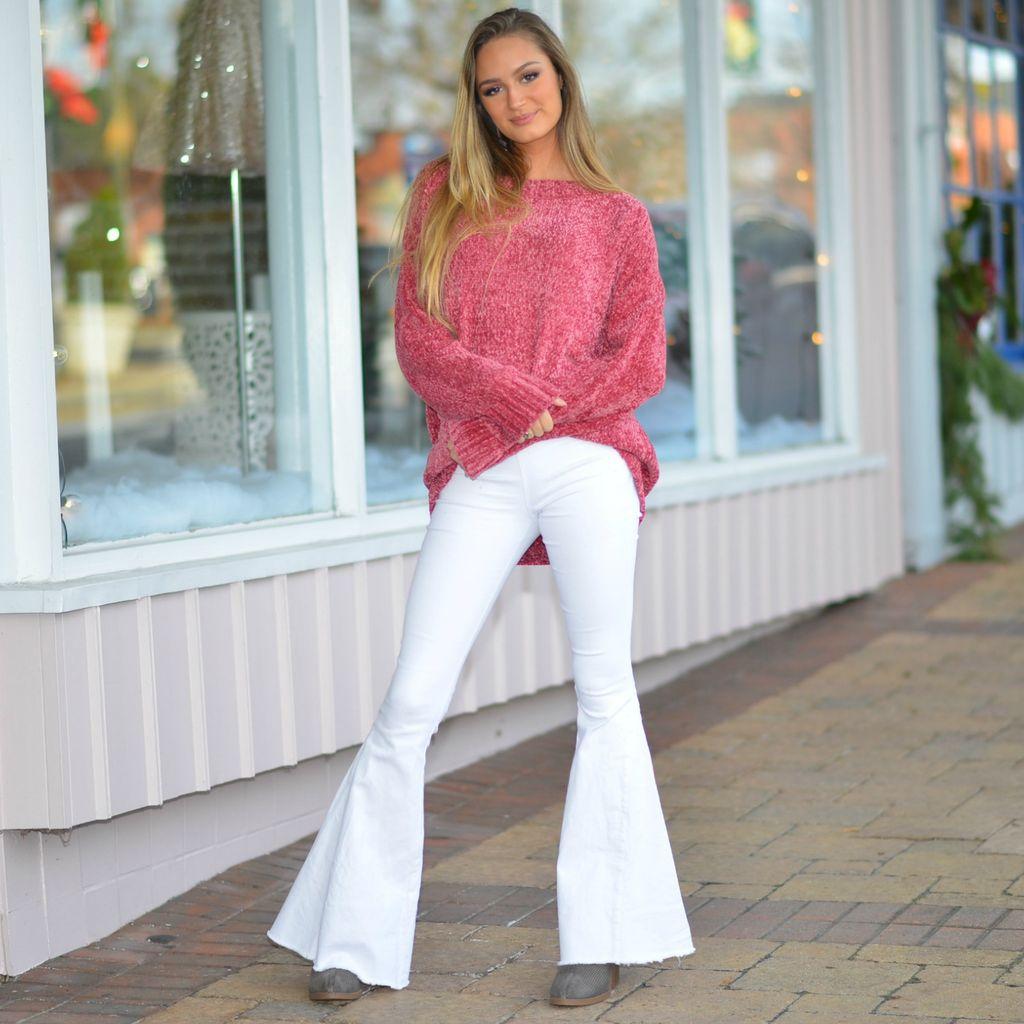 Tops 66 Cinnamon Chenille Pullover Sweater