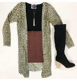 Tops 66 Lania Leopard Cardigan