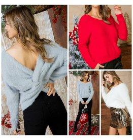 Tops 66 Snowy Day Fuzzy Sweater
