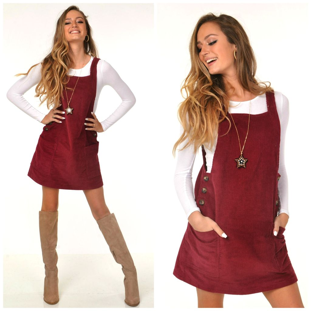 Dresses 22 Cranberry Crush Corduroy Dress