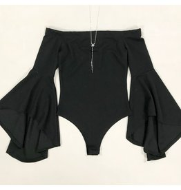 Tops 66 Best Is Yet To Come Off Shoulder Bell Sleeve Bodysuit