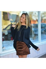 Skirts 62 Leopard Line Up Suede Skirt