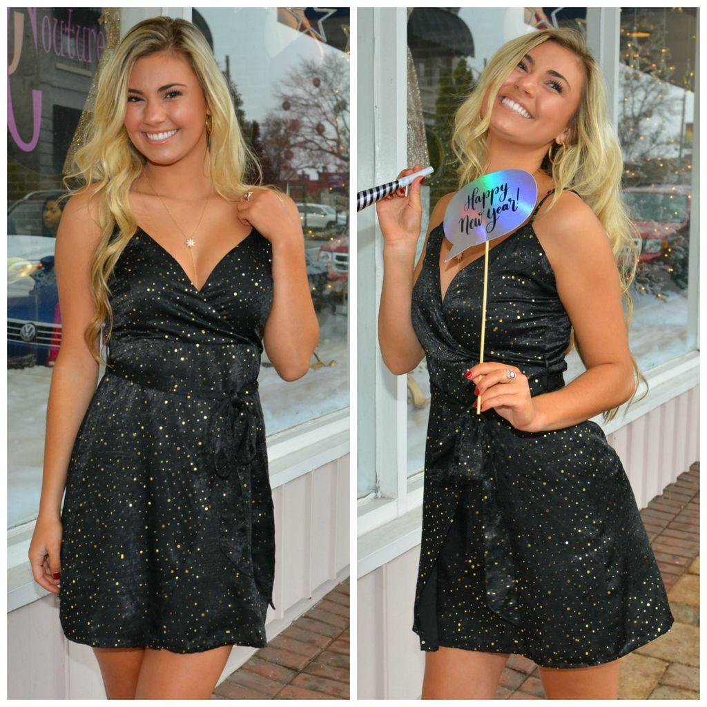 Dresses 22 Night Sky Shine and Wrap LBD
