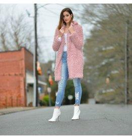 Outerwear Make Me Blush Pink Furry Coat