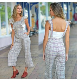 d8d65cadfa0 Jumpsuit Rainey Ruffle   Plaid Jumpsuit