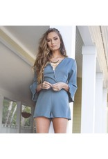 Rompers 48 Change Of Scenery Slate Scallop Romper