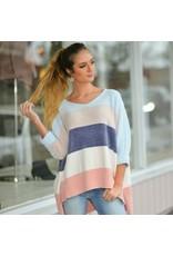 Tops 66 Winter Pastel Party Stripe Sweater
