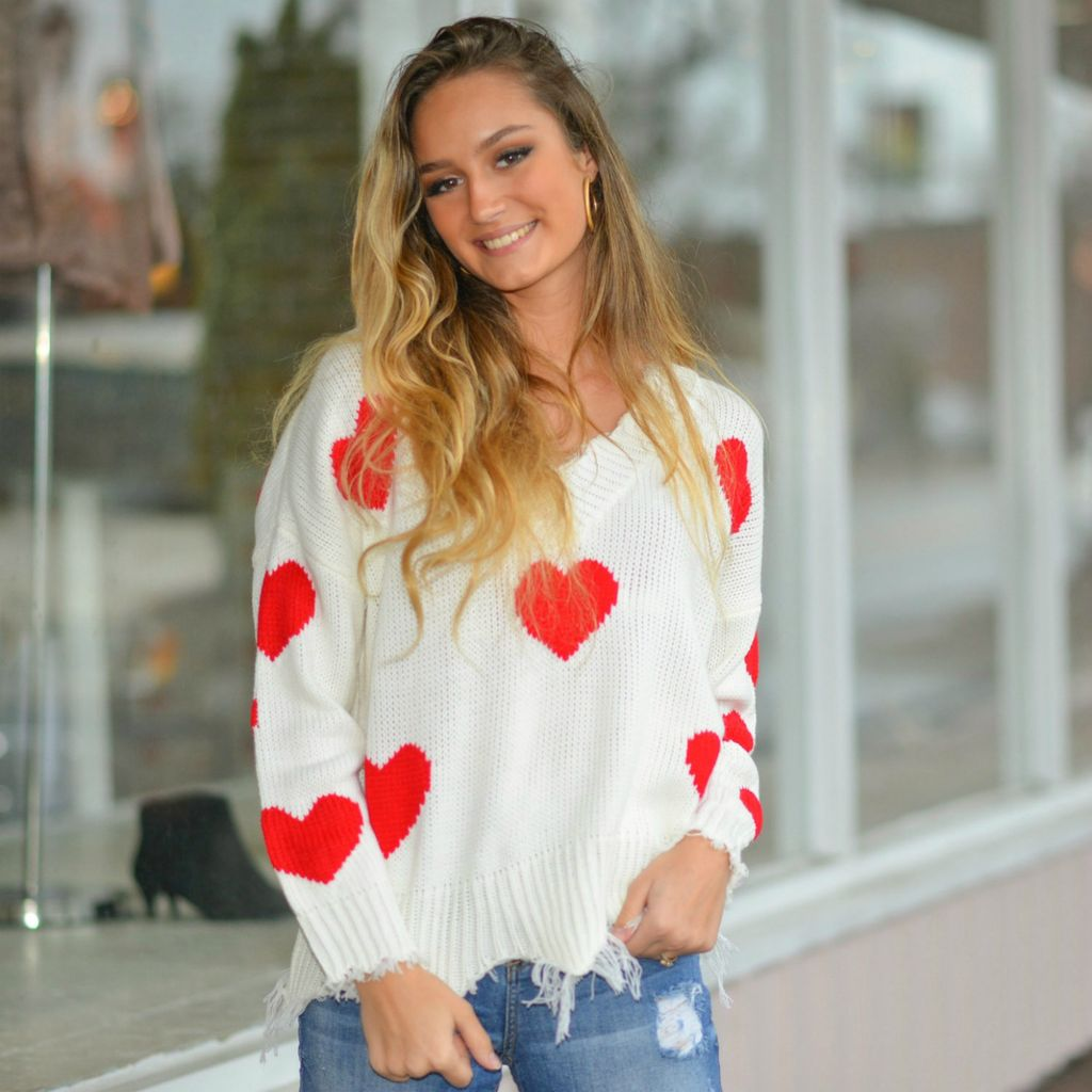 Tops 66 Be My Valentine Heart Sweater