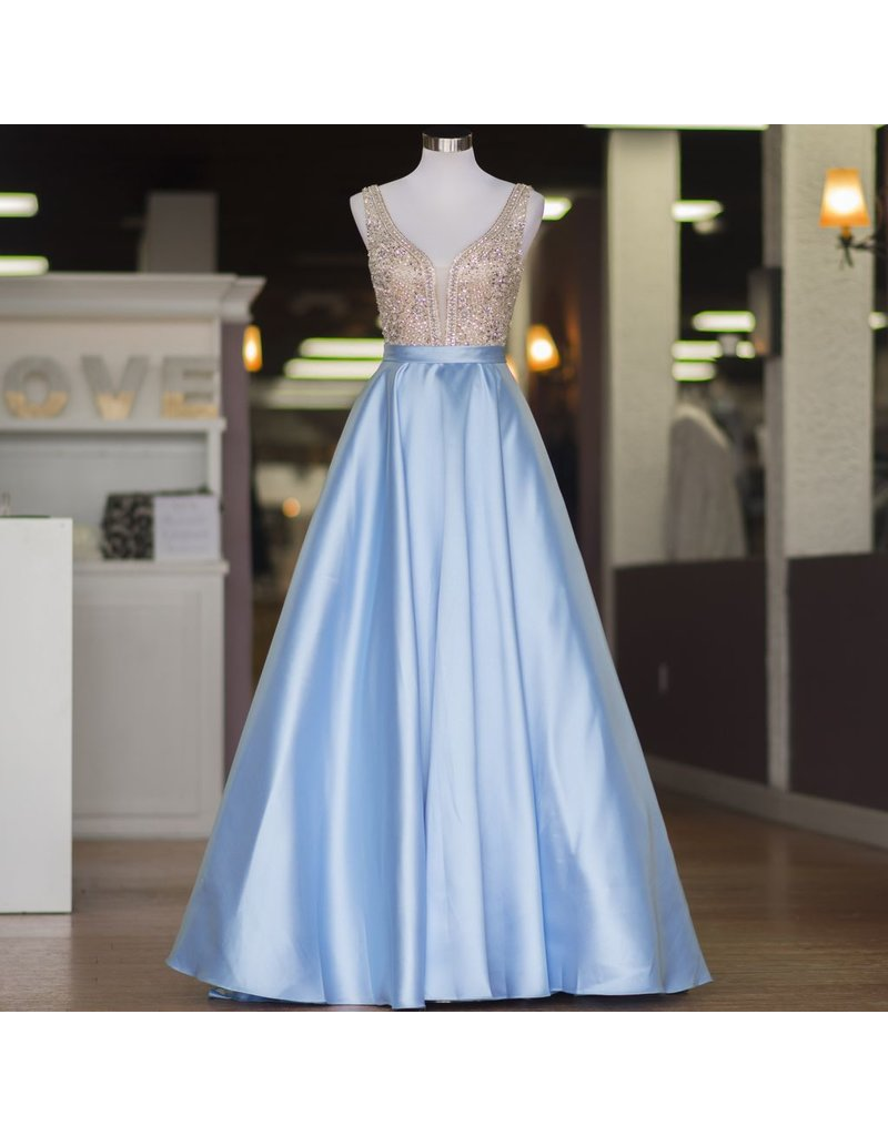 Formalwear Enchanted Evening Light Blue Formal Dress