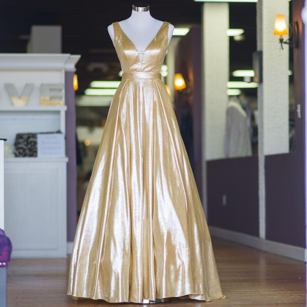 Formalwear Golden Moment Gold Formal Dress
