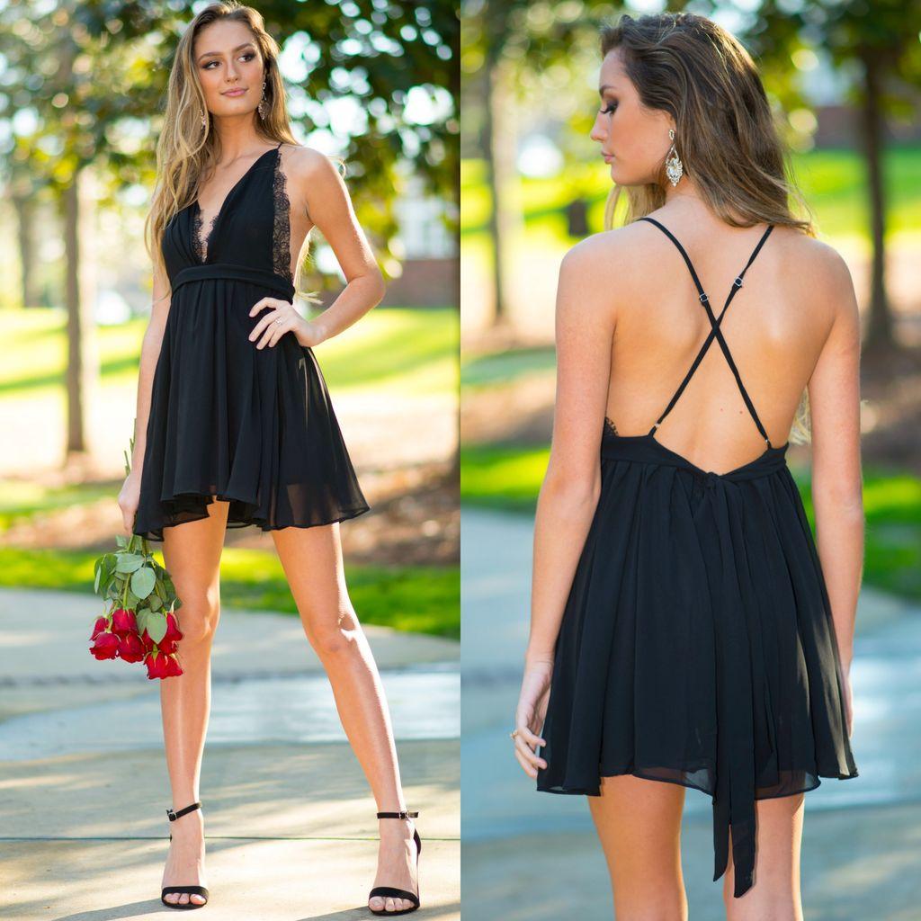 Dresses 22 Chiffon Eyelash Lace Black Dress