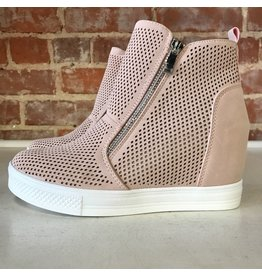 Shoes 54 Pumped Up Wedge Zipper Blush Sneakers
